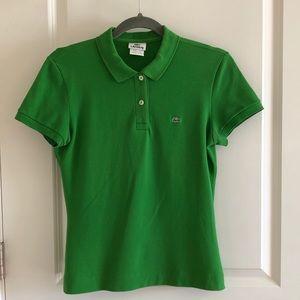 Lacoste Women's Kelly Green Polo - size 8 -size 40
